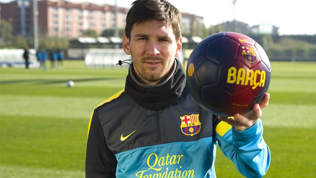 Lionel Messi: Els millors desitjos de 2013 / FOTO: ÀLEX CAPARRÓS - FC