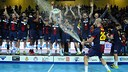 Barça Intersport with the Copa Asobal trophy / PHOTO: Asobal