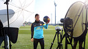 Messi, durant el rodatge de la felicitació / FOTO: MIGUEL RUIZ - FCB
