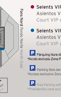 Map of the Courtside Vip Seats