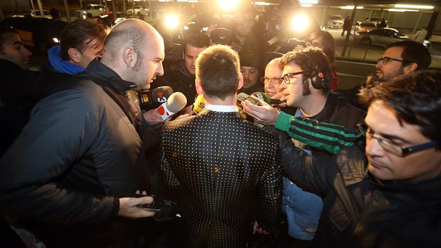 Leo Messi a Zúrich a la gala FIFA Ballon d'Or 2012