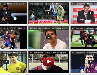 Messi on Youtube Channel