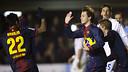 Xerez against Barça B earlier in the season. / PHOTO: ARXIU