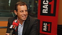 Sandro Rosell during the interview in RAC 1 / FOTO: PEP MORATA - MD