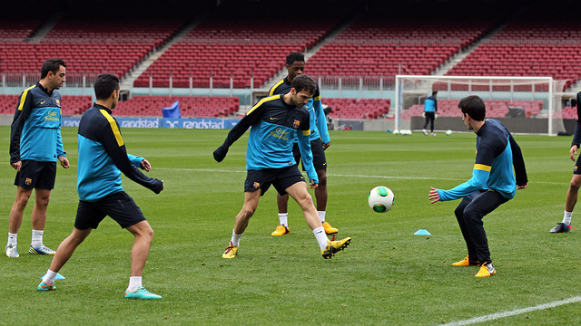 This morning's training session. PHOTO: MIGUEL RUIZ - FCB