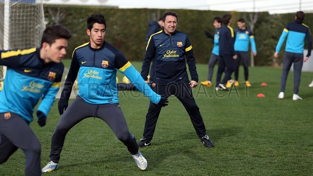 Barça's B training session 23/01/2013 / PHOTO: MIGUEL RUIZ - FCB
