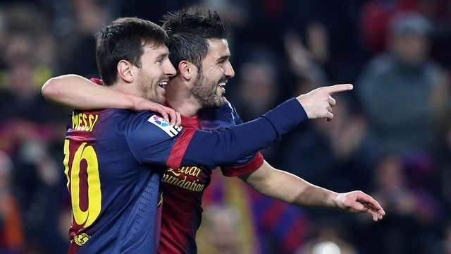 Messi and Villa celebrate a goal / PHOTO: Miguel Ruiz - FCB