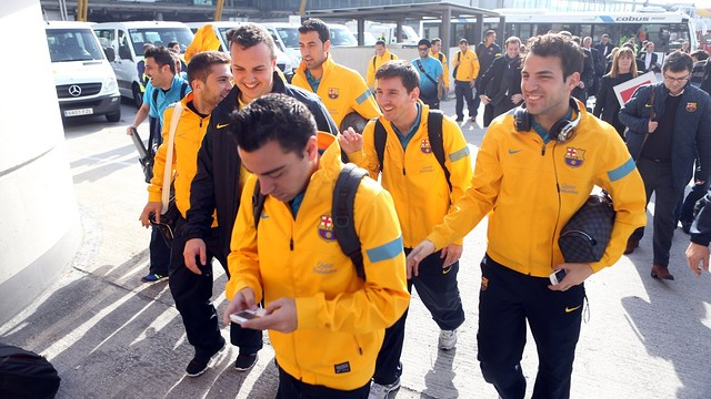 The Players arrives in Madrid for Cupl Clásico / PHOTO: MIGUEL RUIZ - FCB