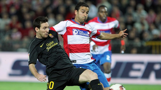 Last season's Granada-Barça match. PHOTO: ARCHIVE - FCB