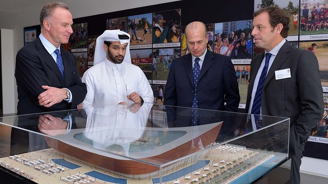 Rosell at the Qatar 2022 Legacy Pavilion