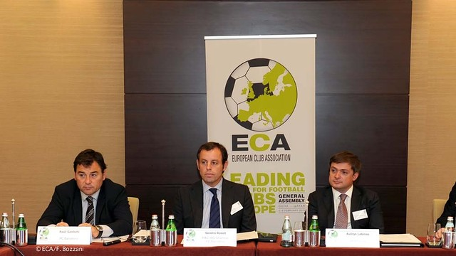Rosell and Sanllehí at the ECA General Assembly