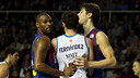 Mickeal and Tomic with Rudy / PHOTO: ARCHIVE - FCB