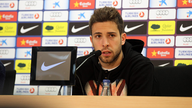 Jordi Alba / PHOTO: MIGUEL RUIZ - FCB