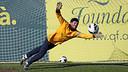 Pinto, en l'entrenament d'aquest dissabte. FOTO: MIGUEL RUIZ-FCB.