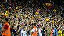 Públic al Camp Nou. FOTO: ÀLEX CAPARRÓS-FCB.