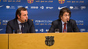 Sandro Rosell and Toni Freixa, en roda de premsa / PHOTO: GERMN PARGA-FCB