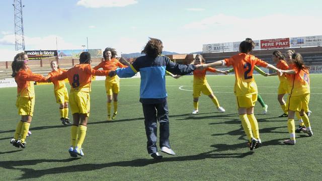 Girls' Infantil and Aleví teams