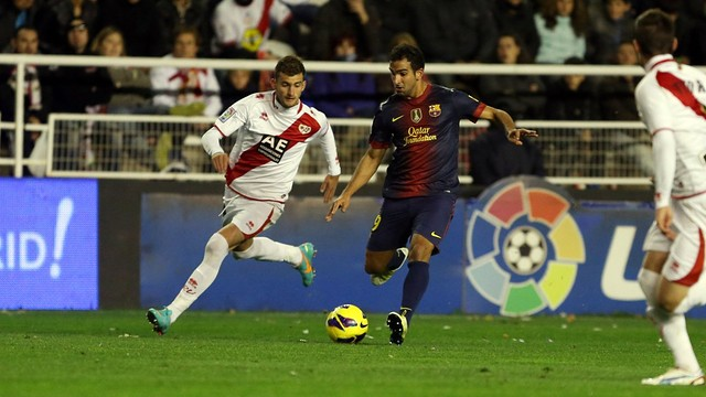 Montoya in action against Rayo / PHOTO: Miguel Ruiz - FCB