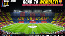 Wallpaper FCB vs Milan Road to Wembley [ENG]