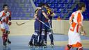 El Barça d'hoquei ha celebrat fins a sis gols al Palau / FOTO: GERMÁN PARGA - FCB