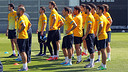 The players training on Saturday / PHOTO: MIGUEL RUIZ – FCB