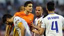 Marc Bartra, this Sunday at La Romareda / FOTO: MIGUEL RUIZ - FCB