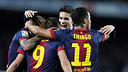 Alexis, Alves, Thiago and Bartra / PHOTO: ARXIU FCB