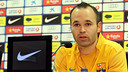 Iniesta press conference | PHOTO: MIGUEL RUIZ-FCB.