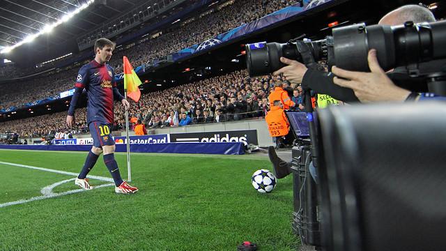 Leo Messi in a Champions League match / FOTO: MIGUEL RUIZ - FCB