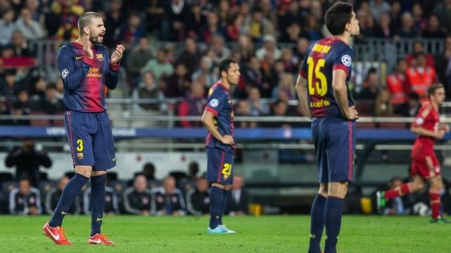 Piqué against Bayern Munchen | PHOTO: MIGUEL RUIZ
