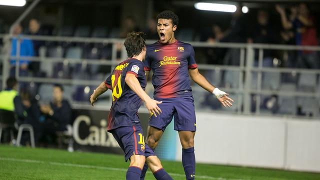 Rafinha celebrando uno de sus goles. FOTO: ARXIU - FCB