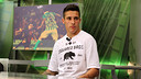 Cristian Tello in the ''El Marcador' studio at Barça TV / PHOTO: MIGUEL RUIZ – FCB