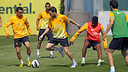 The players training last week / PHOTO: MIGUEL RUIZ – FCB