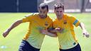 Javier Mascherano and Leo Messi today / PHOTO: MIGUEL RUIZ - FCB