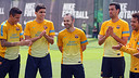 L'equip felicita Iniesta pel seu aniversari / FOTO: MIGUEL RUIZ - FCB