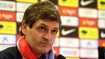 Tito Vilanova, durant la roda de premsa. FOTO: MIGUEL RUIZ - FCB