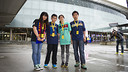 The four contest winners at the Camp Nou / PHOTO: ÁLEX CAPARRÓS-FCB