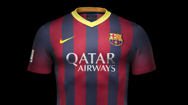 "The away kit is based on the Catalan ""senyera"" flag"