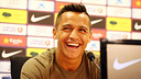 Alexis in a press conference PHOTO: MIGUEL RUIZ - FCB
