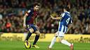 Cesc against Espanyol. PHOTO: MIGUEL RUIZ-FCB