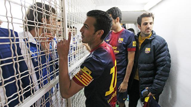 Pedro i Verdú, abans del partit / FOTO: MIGUEL RUIZ-FCB