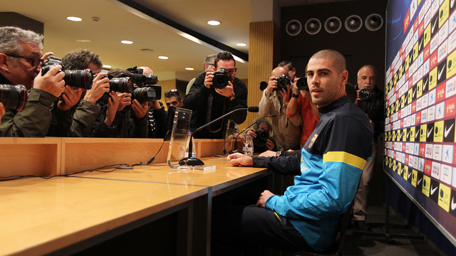 Press conference of Víctor Valdés PHOTO: MIGUEL RUIZ-FCB.