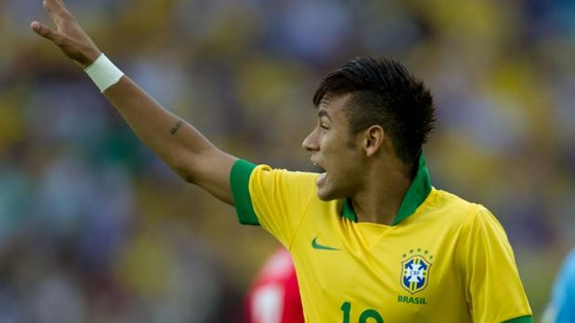 Neymar in the game between Brazil and England / PHOTO: Neymar