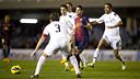 Imatge del partit de la primera volta. FOTO. Arxiu - FCB