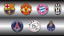 Barça, Manchester United, Bayern, Juventus, PSG, Ajax i Porto, campions de Lliga 2012/13.