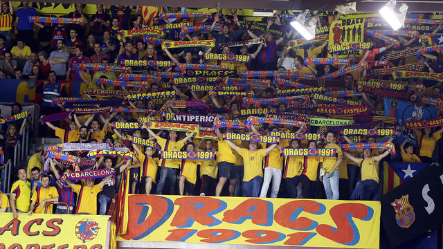 Fans at the Palau Blaugrana / PHOTO: ARCHIVO FCB.