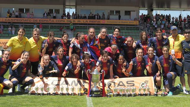 FC Barcelona, Queen's Cup winners 2013 / PHOTO: RFEF