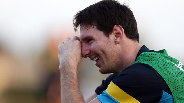 Leo Messi, en un entrenament del mes de setembre / FOTO: MIGUEL RUIZ - FCB