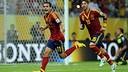 Pedro celebrates scoring against Uruguay / PHOTO: FIFA.COM
