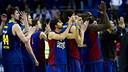 Barça's basketball team in a Euroleague game / Photo: Arxiu - FCB